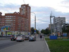 См. статью о. дисторсии.  Фото Коптево.  Улица Большая Академическая 11.06.08 (21ч.00мин.